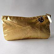 "Сумки и аксессуары handmade. Livemaster - original item Clutch ""the Golden Apple"",evening bag,leather gold,clutch gold. Handmade."