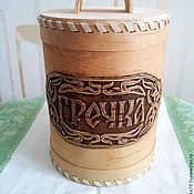 Для дома и интерьера handmade. Livemaster - original item Box of birch bark for buckwheat. Bank for storing grains. Handmade.