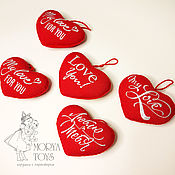 Сувениры и подарки handmade. Livemaster - original item Textile heart. Pendant with embroidery.. Handmade.