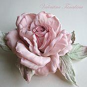 Цветы и флористика ручной работы. Ярмарка Мастеров - ручная работа Цветок роза из вареного шелка. Handmade.