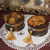 """Для дома и интерьера ручной работы. Ярмарка Мастеров - ручная работа """" Duetto"""" - союз двух мини-шкатулочек. Handmade."""