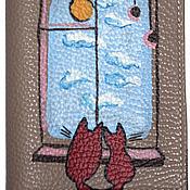 Канцелярские товары ручной работы. Ярмарка Мастеров - ручная работа Обложка У окна. Handmade.