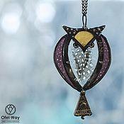 Украшения handmade. Livemaster - original item Pendant neck pendant-Owl (p-008). Handmade.