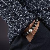 Украшения handmade. Livemaster - original item Men`s Hawkeye Stone Bracelet 12mm with 14mm Pearl. Handmade.