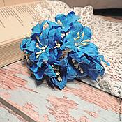 Цветы искусственные ручной работы. Ярмарка Мастеров - ручная работа Лилии синие 5шт. Handmade.