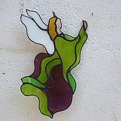 Для дома и интерьера ручной работы. Ярмарка Мастеров - ручная работа Ангел - витражная подвеска. Handmade.