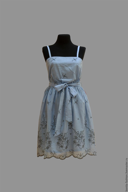 Платье батист шитье