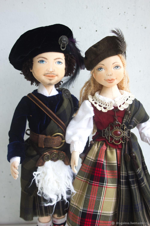 Куклы коллекционные в национальном костюме, интерьерные куклы, Куклы, Орел, Фото №1