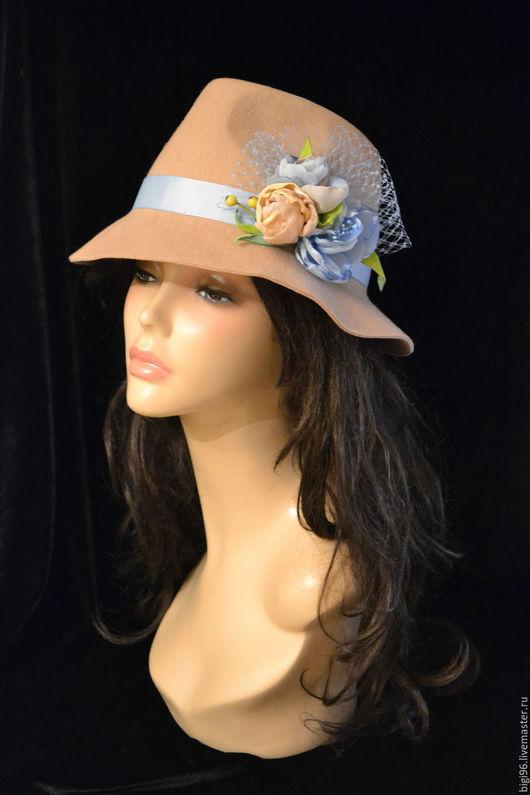 """Шляпы ручной работы. Ярмарка Мастеров - ручная работа. Купить """"Нежность"""". Handmade. Бежевый, женская шляпка, шифон"""