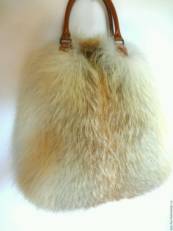 da59fc24e9fb Женские сумки ручной работы. Сумка из меха лисы. Меховые сумки. Женская  сумка.