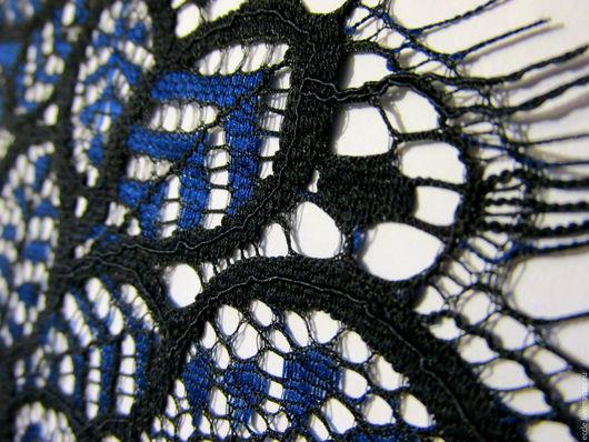 Шитье ручной работы. Ярмарка Мастеров - ручная работа. Купить Тонкое двухцветное кружево Италия. Handmade. Черный