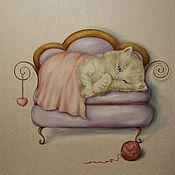 Картины и панно ручной работы. Ярмарка Мастеров - ручная работа Сладких снов. Handmade.