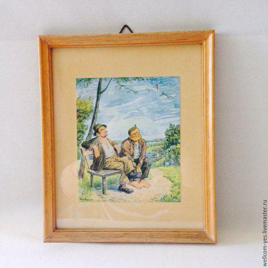Винтажные предметы интерьера. Ярмарка Мастеров - ручная работа. Купить Картины. Handmade. Комбинированный, дерево