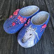 Обувь ручной работы handmade. Livemaster - original item Slippers felted female