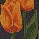 Картины цветов ручной работы. Желтые тюльпаны. Вышивка крестиком. Ирина 3.14. Интернет-магазин Ярмарка Мастеров. Фото №2