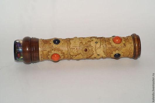 Калейдоскопы ручной работы. Ярмарка Мастеров - ручная работа. Купить Калейдоскоп берестяной. Handmade. Рыжий, береста, сувенир, красное дерево