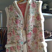 Одежда handmade. Livemaster - original item Sheepskin fur vest size 50-52. Handmade.