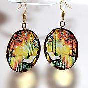Украшения handmade. Livemaster - original item Earrings fall transparent. Handmade.