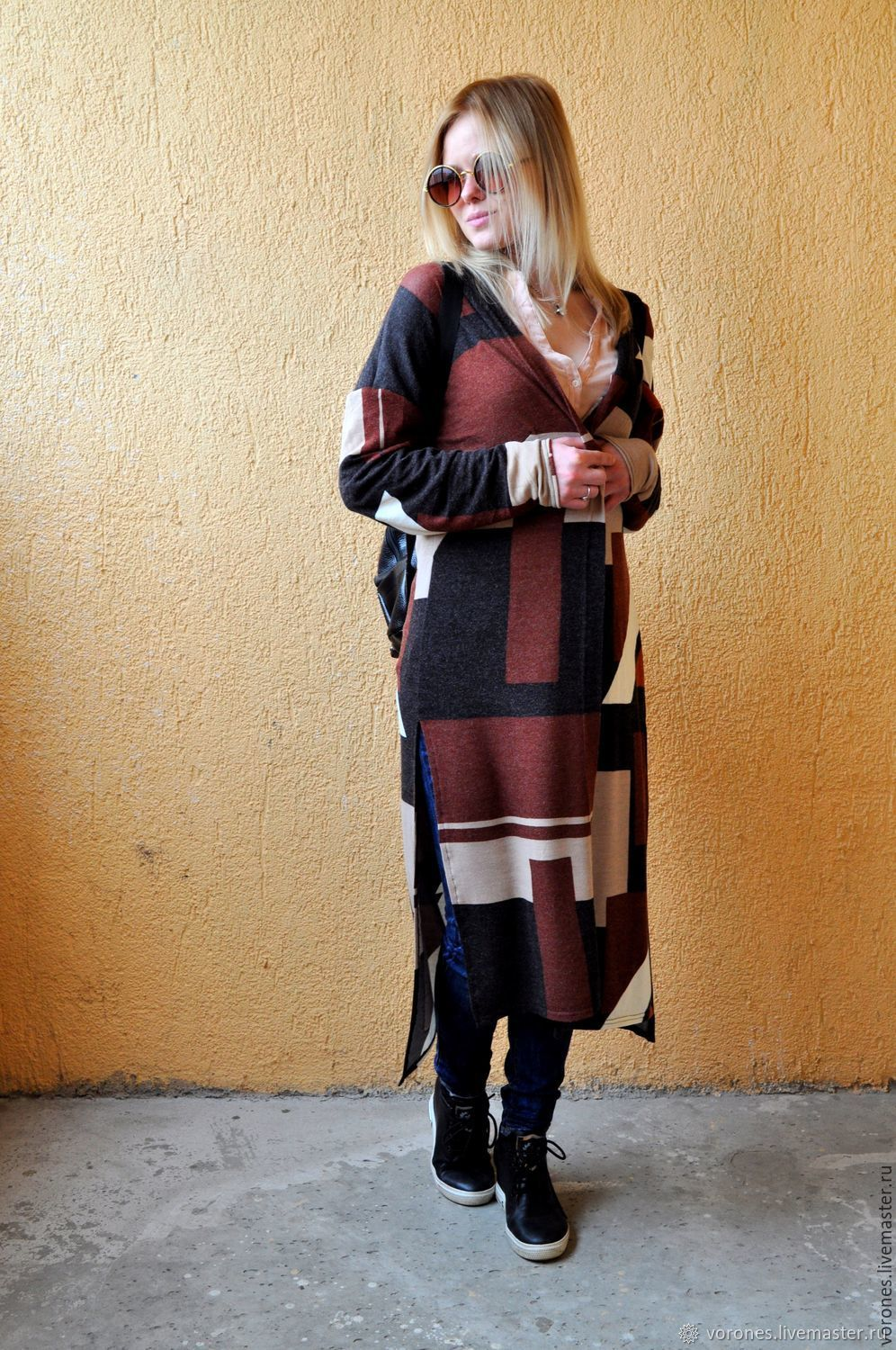 Cardigan 'Abstraction' Maxi, Cardigans, Moscow,  Фото №1