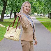 Сумки и аксессуары handmade. Livemaster - original item Bag shopper knit. Handmade.