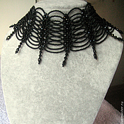 Украшения handmade. Livemaster - original item Necklace Stand black. Handmade.
