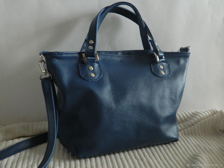 Сумка из натуральной кожи.Класика синяя. Женские сумки ручной работы.  Ярмарка Мастеров - ручная работа. Купить Сумка кожаная женская. 1d54f31b3df