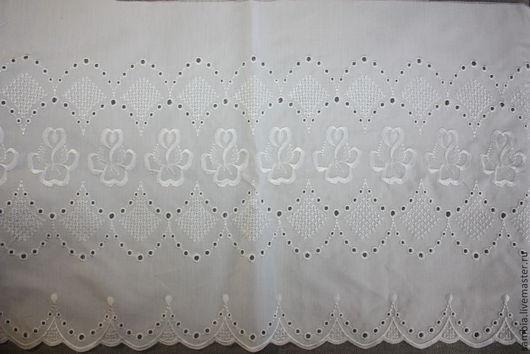 Шитье ручной работы. Ярмарка Мастеров - ручная работа. Купить Шитье белое широкое на вискозном поплине (Австрия). Handmade. Белый