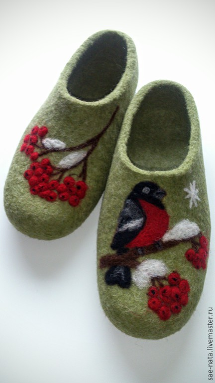 Slippers made of felt