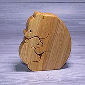 """Пазлы, головоломки ручной работы. Ярмарка Мастеров - ручная работа Пазлы, головоломки: """"Медведица с медвежонком"""". Handmade."""