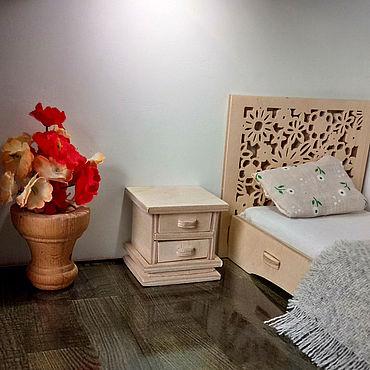 Dolls & toys handmade. Livemaster - original item Furniture for dolls Nightstand bedside Ivanhoe 0214. Handmade.
