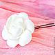Свадебные украшения ручной работы. Шпильки с белой гарденией. Tanya Flower. Ярмарка Мастеров. Шпильки для невесты, украшение в волосы, claycraft