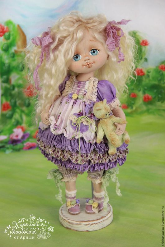 Коллекционные куклы ручной работы. Ярмарка Мастеров - ручная работа. Купить Фиалочка  . Кукла авторская текстильная art doll. Handmade.