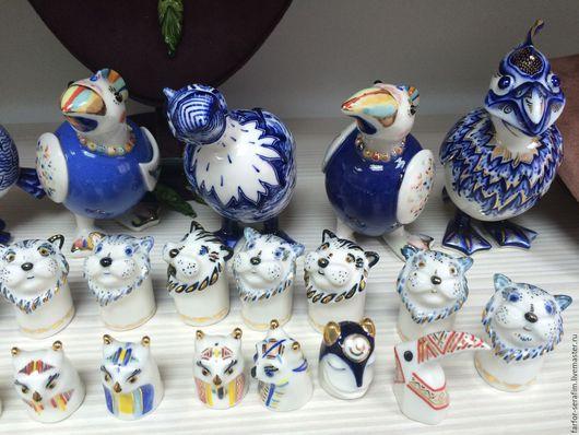 """Миниатюрные модели ручной работы. Ярмарка Мастеров - ручная работа. Купить Фарфоровая """"Синяя птица удачи"""" (разные под заказ). Handmade."""