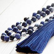 Фен-шуй и эзотерика handmade. Livemaster - original item Rosary made of sodalite and rock crystal 108 stones. Handmade.