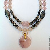 Украшения handmade. Livemaster - original item Glamorous set with natural stones and crystal Aurora Borealis.. Handmade.
