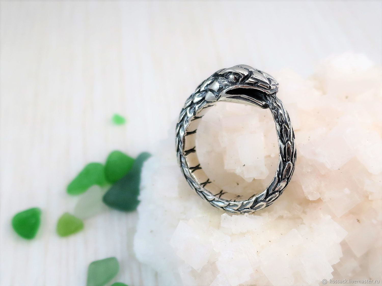 Ouroboros wide ring for men, Rings, Zaporozhye,  Фото №1