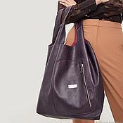 Сумки и аксессуары handmade. Livemaster - original item Shopper Leather Bag Bag Package Leather String Bag. Handmade.