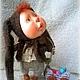 """Коллекционные куклы ручной работы. Заказать авторская кукла """"В ожидание чуда"""". Наталия. Ярмарка Мастеров. Коричневый, малыш, чудо"""