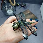Украшения handmade. Livemaster - original item Dragonfly brooch made of polymer clay. Handmade.