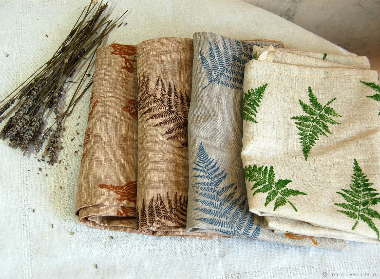 Linen kitchen towels ' Fern 2', Towels, Vladimir,  Фото №1