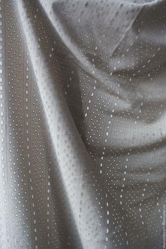 Шитье ручной работы. Ярмарка Мастеров - ручная работа. Купить Плательная вискоза с перфорацией, винтаж 1980 год. Handmade. Серый