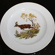 Винтаж handmade. Livemaster - original item Two vintage wall plates with animals, Bauscher Weiden, Germany. Handmade.