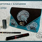 Сумки и аксессуары handmade. Livemaster - original item Cosmetic bag with valve Tuwani. Handmade.
