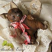 Куклы и игрушки ручной работы. Ярмарка Мастеров - ручная работа Тедди котенок Бурчик. Handmade.