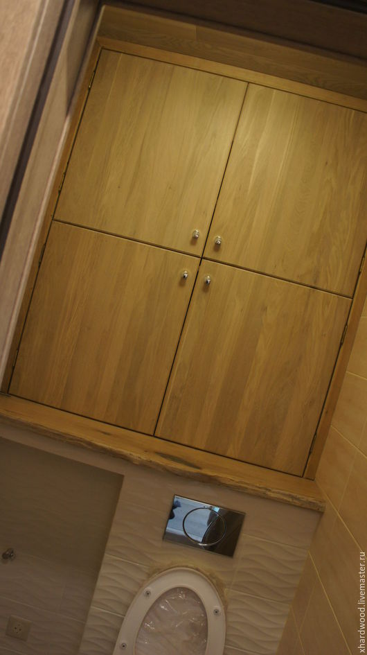 Мебель ручной работы. Ярмарка Мастеров - ручная работа. Купить Дверки тех.шкафа в туалете (массив дуба). Handmade. Бежевый