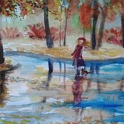 """Картины и панно ручной работы. Ярмарка Мастеров - ручная работа картина акварелью""""Пошли со мной"""". Handmade."""