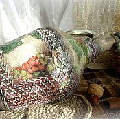 Для дома и интерьера ручной работы. Ярмарка Мастеров - ручная работа Бутыль для вина  Виноградная лоза. Handmade.