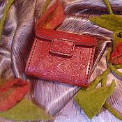 """Сумки и аксессуары ручной работы. Ярмарка Мастеров - ручная работа Кошелек женский """"Красный дуб"""". Handmade."""