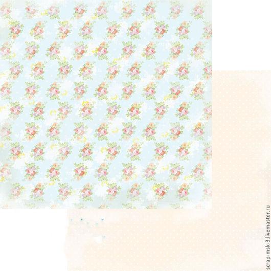 Открытки и скрапбукинг ручной работы. Ярмарка Мастеров - ручная работа. Купить Бумага для скрапбукинга по листу Простор 3206 Fleur Design. Handmade.