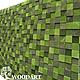 Абстракция ручной работы. Панно мозаика из дерева (120х200). Woodartshop. Ярмарка Мастеров. Панно для кухни, декоративное панно, интерьер спальни